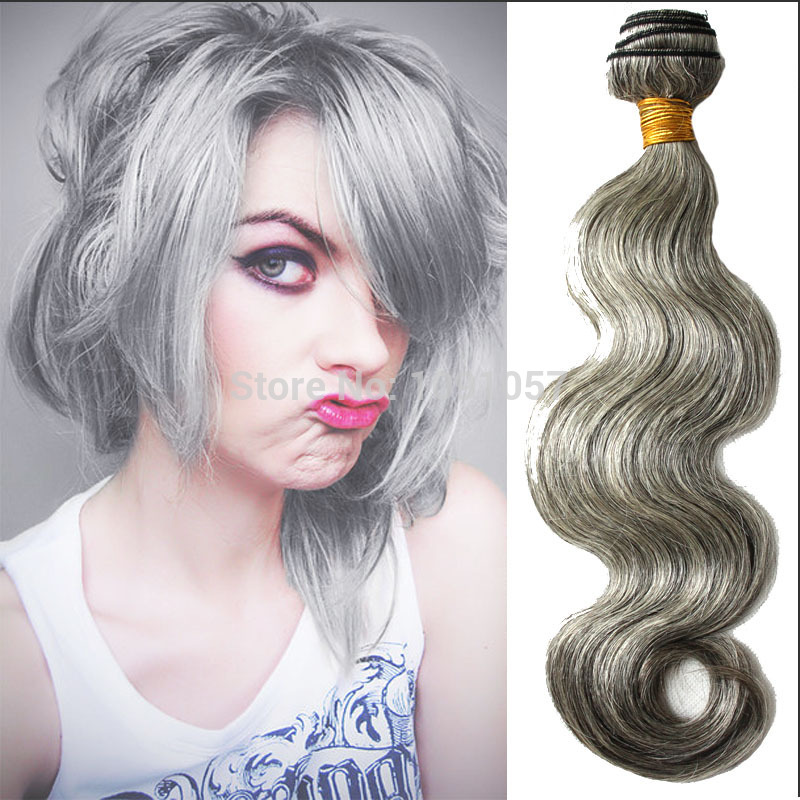 Aliexpress Brazilian Body Wave Hair Extensions 6 30 Grey Human
