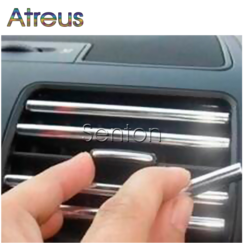 3M/Lot Chrome Car Decoration Outlet Vent Grille Strips For VW Polo Passat B7 B8 Golf 7 5 6 Mk4 Touran Bora Skoda Octavia A5 A7 2