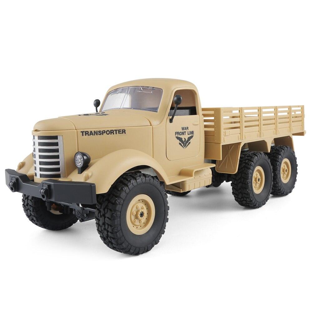 JJRC 6WD RC Внедорожник военный грузовик наклонной плоскости дифференциал/амортизаторы/Скорость преобразования