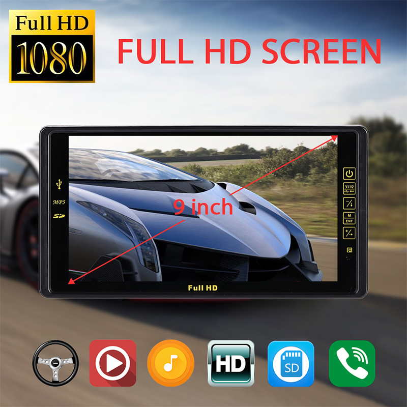 "VEHEMO Bluetooth "" TFT-LCD двухстороннее видео громкой связи подголовник dvd-плеер монитор цифровой ТВ Автомобильный подголовник монитор"