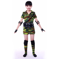 Camo Army Uniform Dance Costumes For Kids Military Uniform Women Camouflage Army Uniform Dance Costume Girls