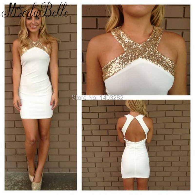 Online Get Cheap White Halter Cocktail Dress -Aliexpress.com ...