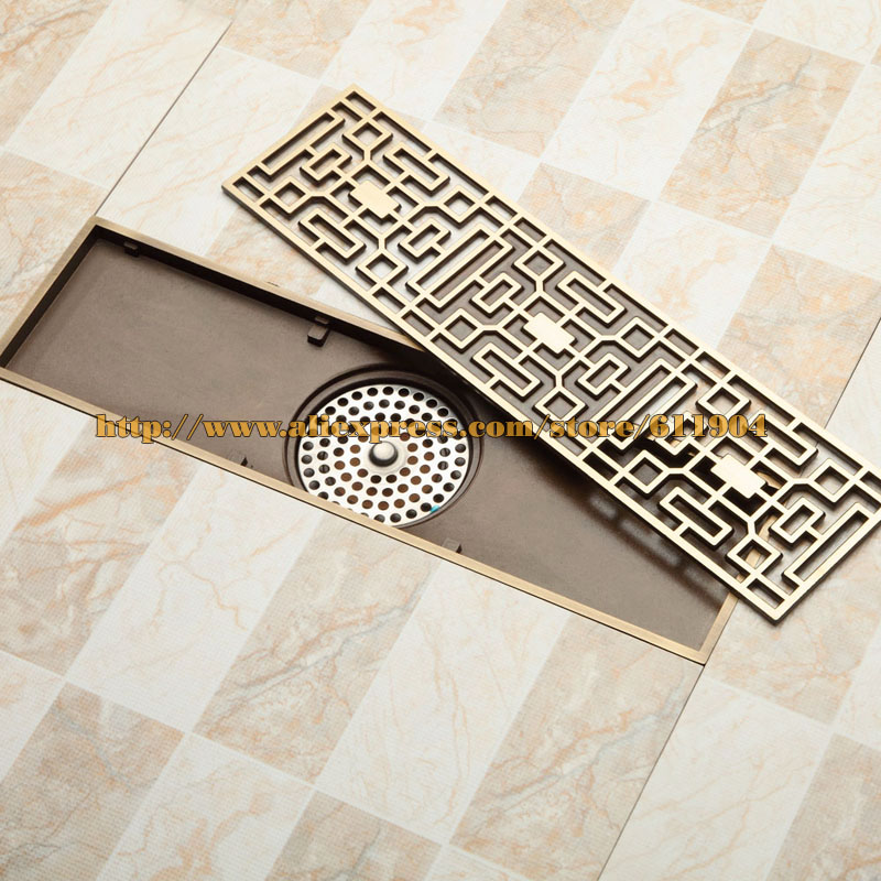 Aliexpress com   Buy Antique Brass Bathroom Grille Shower Drain Floor Drain  Trap Waste Grate Grid Strainer from Reliable trap rat suppliers on Ruian. Aliexpress com   Buy Antique Brass Bathroom Grille Shower Drain