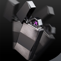 Double fire cross twin arc pulse Electronic Cigarette lighter electric arc charge usb plasma lighter smoker sexy ice man