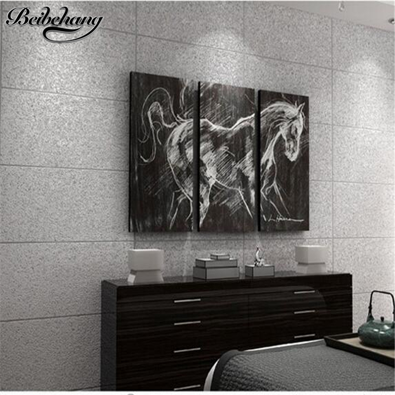 beibehang Modern imitation marble tiles striped wallpaper simple 3D video wall bedroom living room TV background wallpaper цена