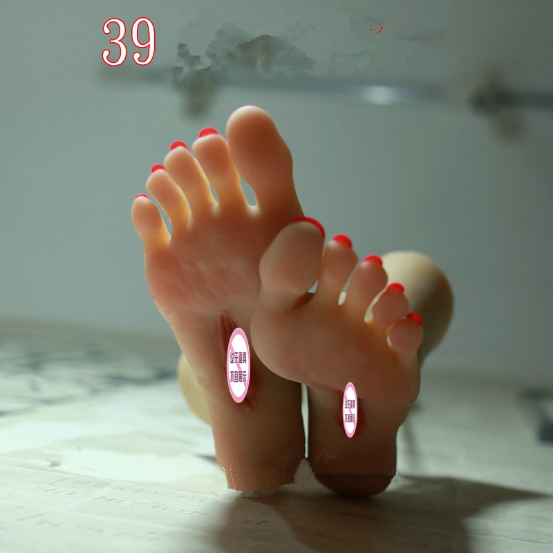 size 39 sex dolls Pocket Pussy Male Masturbator silicone feet - false feet foot toy realistic beautiful sexy model,foot sex toys