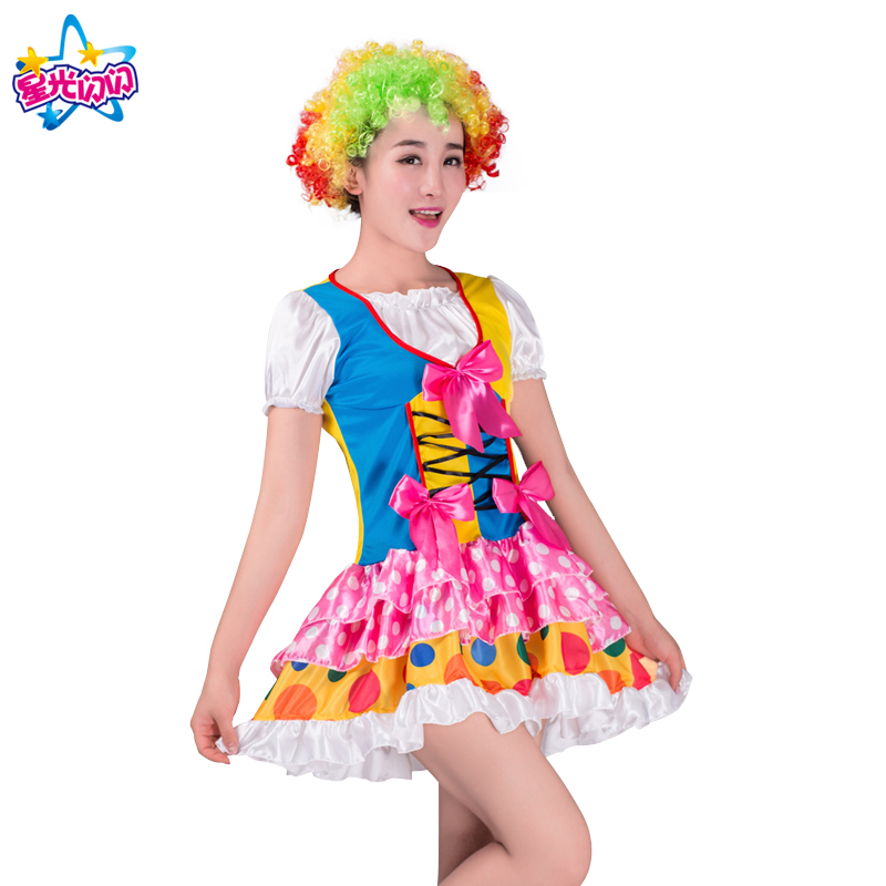 NoEnName Gratis forsendelseHoliday Cosplay Party Dress Up Clown Suit - Kostumer - Foto 6