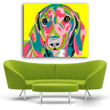 Colorful Dachshund Canvas Print