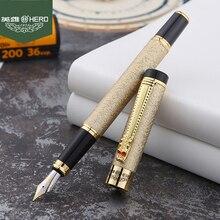Free Shipping Dragon Crystal Fountain Pen Hero 6006 Luxury Full Metal Body Gift Writing Pen Buy 2 Pens Send Gift стоимость