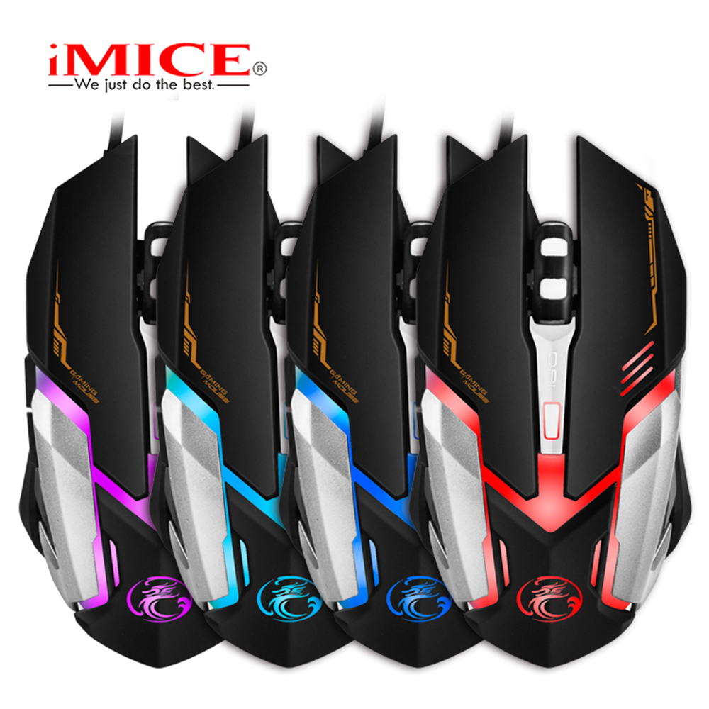 Image 3 - iMICE V6 Wired Gaming mouse USB Optical Mouse 6 Buttons PC Computer Mouse Gamer Mice 4800dpi For Dota 2 LOL Game-in Mice from Computer & Office
