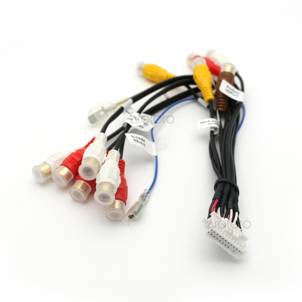 24 pin plug car stereo radio rca output wire harness wiring connector adaptor cable for pioneer [ 1000 x 1000 Pixel ]