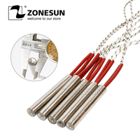 ZONESUN Free Shipping 5pcs Cartridge Heater Heating Element 12x150/200mm Tube Size AC110V/220V/380V Stainless Steel heat parts