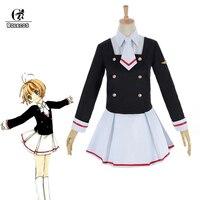 ROLECOS Cardcaptor Sakura Clear Card Cosplay Costume Sakura Kinomoto Cosplay Shaoran Li Costume Tomoyo School Uniform