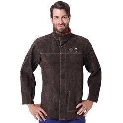 Leather Welding Jacket Split Cowhide Flame/Heat/Abrasion Resistant EN11611 CE certification for Welding Cloths Apron