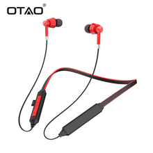 цена на OTAO Bluetooth 5.0 Earphone Wireless Headphone Magnet Earbuds With Microphone Stereo Auriculares Bluetooth Earpiece Mobile Phone