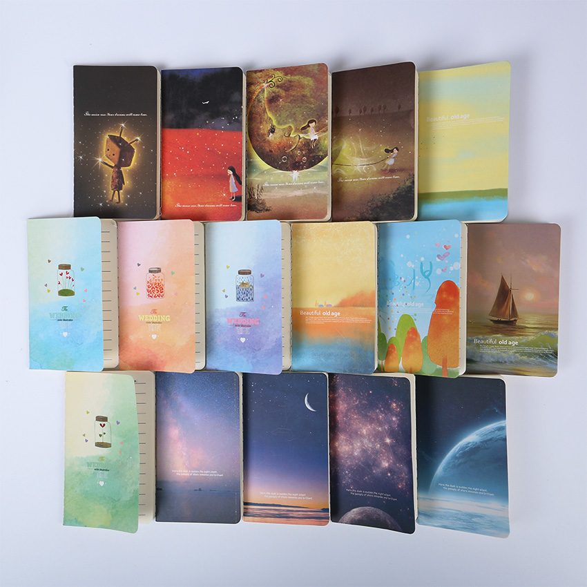 Mini Cute Kawaii Journal Diary Notebook With Lined Paper Vintage Retro Notepad Book For Kids Korean Stationery(China)