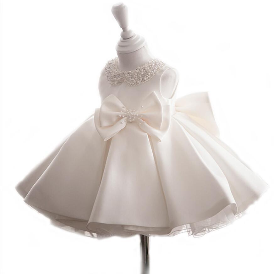 3988158b25f255 Jurk Voor Meisje Baby meisjes jurk Kleding Pasgeboren Doop Zuigeling Kant jurken  Bloem Kinderen Jurken Kids