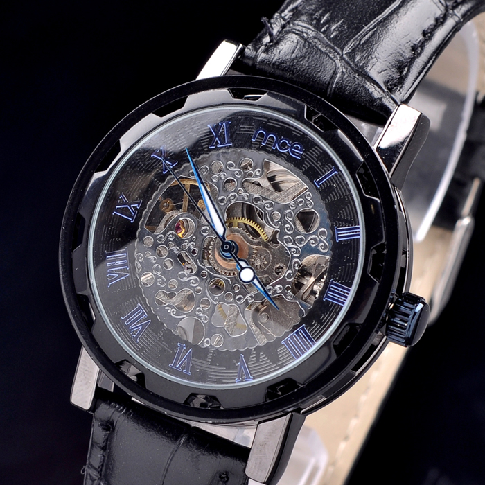2018 new MCE brand Automatic Mechanical Watches for men fashion skeleton decoration luxury Watch casual leather strap clock 207 mce automatic watches luxury brand mens stainless steel self wind skeleton mechanical watch fashion casual wrist watches for men