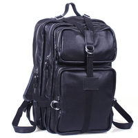7717d4642db7 TIDING Large Capacity Unisex Genuine Leather Travel Laptop Backpacks Bags  3034