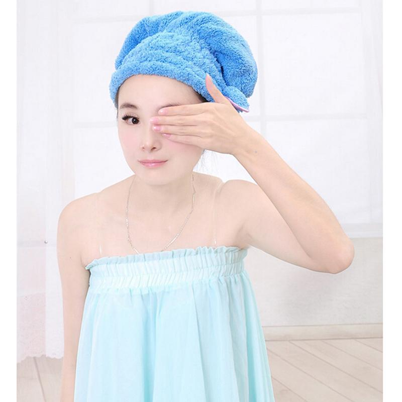 JETTING Shower Bathing Quick Dry Hair Drying Hat Bath Microfiber Fabric Cap Bathing Sanitary Ware Suite Accessories