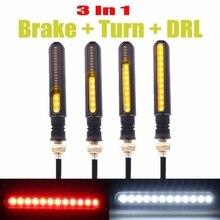4x 12V 24 LED Sequential Turn Signal Indicator Blinker DRL Lamp Rear Stop Light Motorcycle Bike