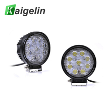 2PCS LED Spotlight Round 27W 12V 2700 LM IP67 Car Work Light Bar For Boating Fishing Driving SUV Outdoor Lighting Spot Lamp(China)