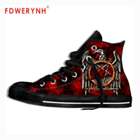 The Metal Band Slayer Thrash Metal Men's Custom Casual Rock Music Summer Mens Canvas Shoes