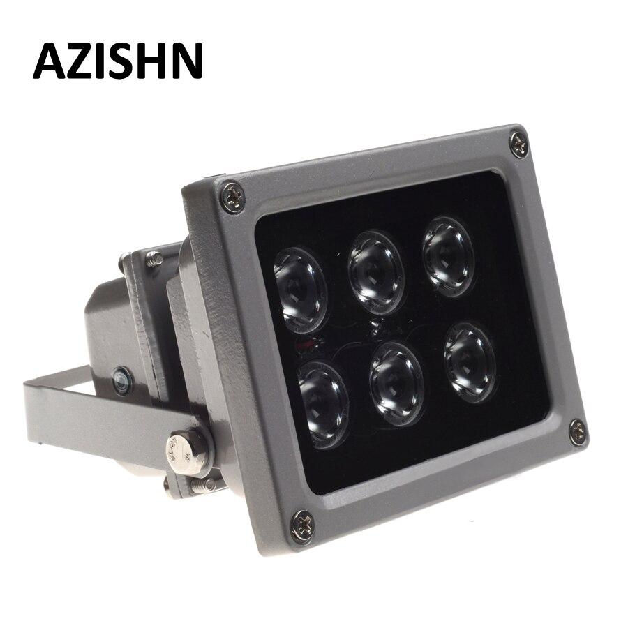 AZISHN CCTV LED S IR illuminateur lampe infrarouge 6 pièces rangée de LED IR extérieur étanche Vision nocturne CCTV lumière de remplissage pour caméra de vidéosurveillance