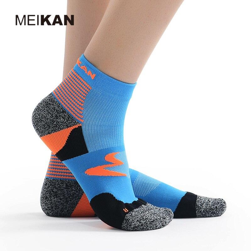 MK5116 MEIKAN Mesh Running Short Socks Terry Sole Damping High Quality Practically Cheap Sport Ankle Socks For Summer