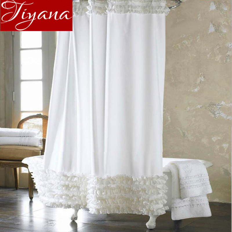 european fashion waterproof mildew prevent white lace curtains thick cloth finished product bathroom shower curtains tu0026023 30in curtains from home