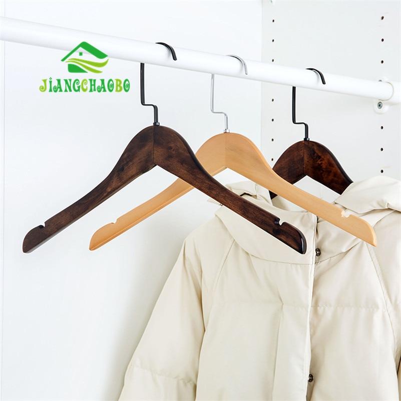 Percha para ropa de madera maciza giratoria Percha para ropa de - Organización y almacenamiento en la casa