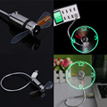Creative Hot selling USB Mini Flexible Time LED Clock Fan with LED Light - Cool Gadget Wholesale