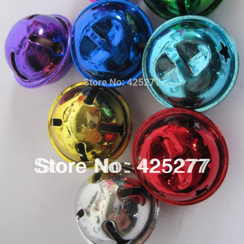 80pcs free shipping multicolor bells. 25 mm pet accessories/Christmas decorations wedding, festival decoration 031004001002