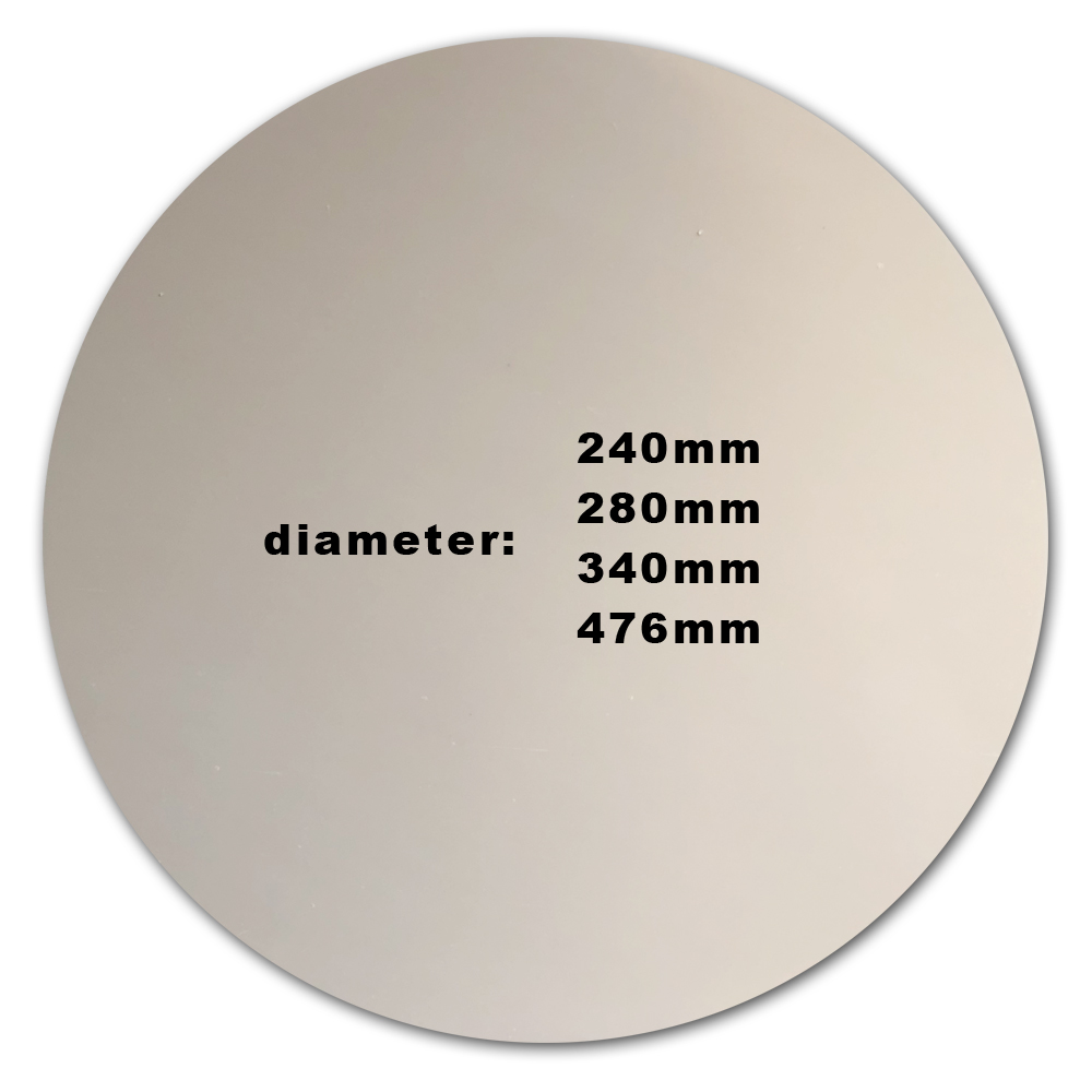 Energetic 1mm Thick Pei Sheet 3d Printer Build Surface Round 11 For He3d K280 Delta Diy 3d Printer Heated Bed 280mm