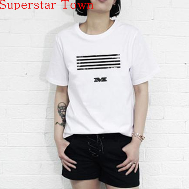 89a38a3ea 2016 New Brand BigBang New Album MADE 2Colors T-shirt G-Dragon MADE Tour