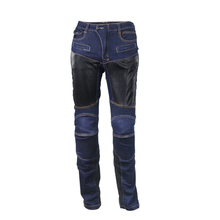 Men Jeans Motorcycle Pants Protection Pants Off-Road Breathable Grid Wear-Resistant Knee Protective Riding Motorcycle Trousers