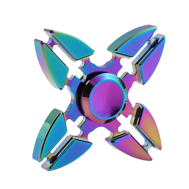 Four Corners Crab Colorful Fidget Spinner EDC Hand Spinners Autism ADHD Kids Christmas Gifts Metal Finger Toys Spinners