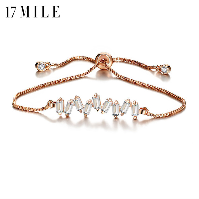 362ee30661d Aliexpress.com : Buy 17MILE Fashion Crystal Charm Bracelets For Women  Statement Adjustable Rose Gold Silver Color Bracelet Female Party Jewelry  Gifts ...