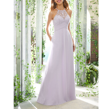 Lilac Halter High Quality Lace Beading Illusion Long kurti for women Dress For W