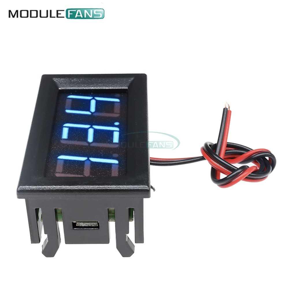 0.56 ''LED デジタル電圧計ミニ電圧計検出器電圧ゲージテスター DC 12V 24V 青色表示 2 リード線高 Precition