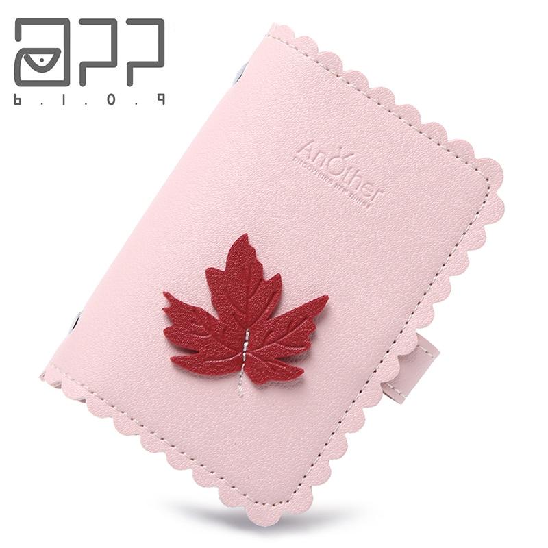 APP BLOG Fashion Maple Leaf PU Leather Function 24 Bits Card Holder Case Business Men Women Credit ID Passport Card Wallet 2019