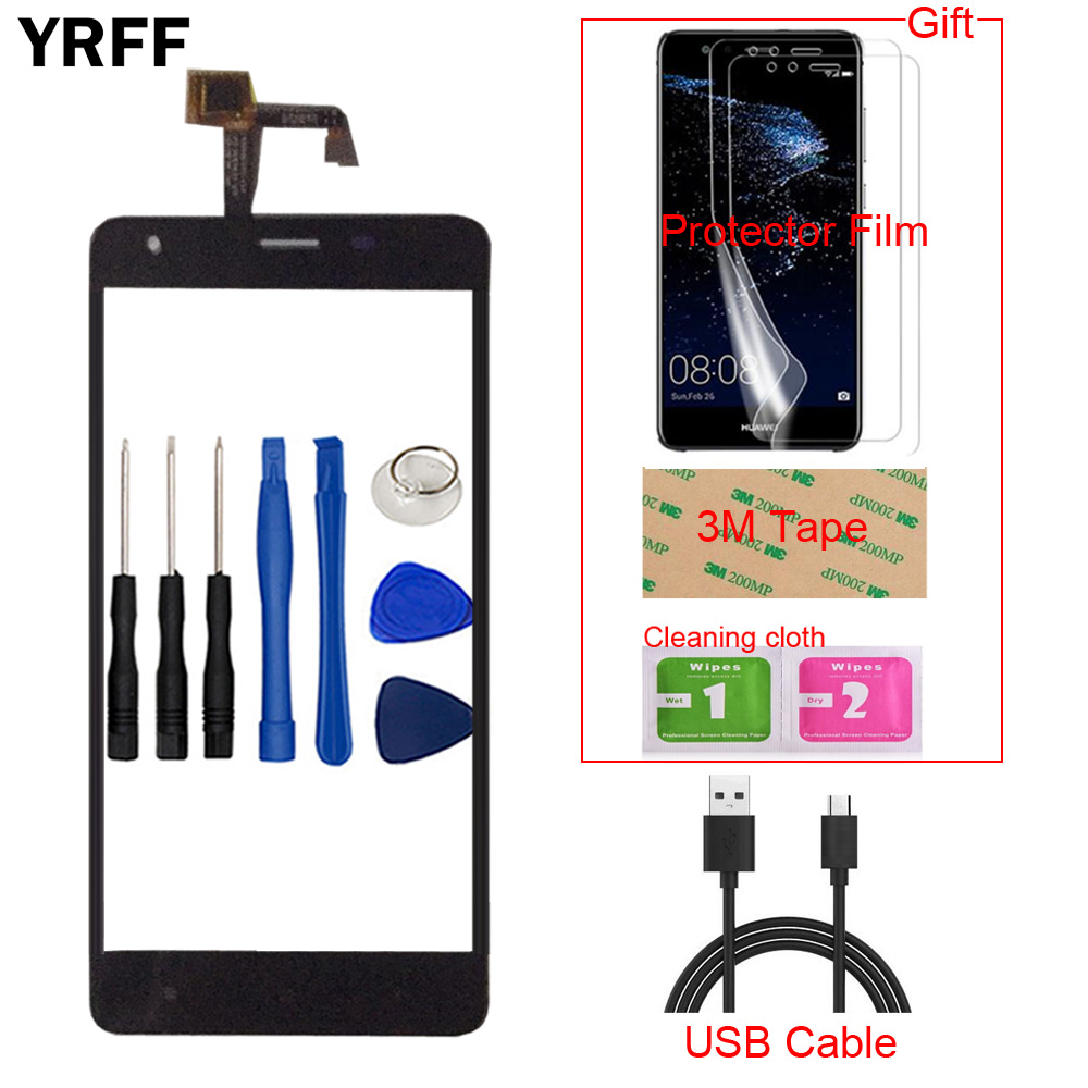 5.5'' TouchGlass Mobile Phone Touch Glass For Oukitel K6000 Pro Touch Screen Glass Digitizer Panel Lens Sensor Tools Adhesive