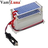 12v 10g/h Car Portable Ozone Generator With Double Integrated Ceramic Plate Ozonizer Air Sterilizer Air Ozone Purifier