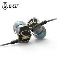 Earphone Zinc Alloy QKZ DM7 In Ear Earphones HiFi Ear Phone Metallic Earbuds Stereo In Ear