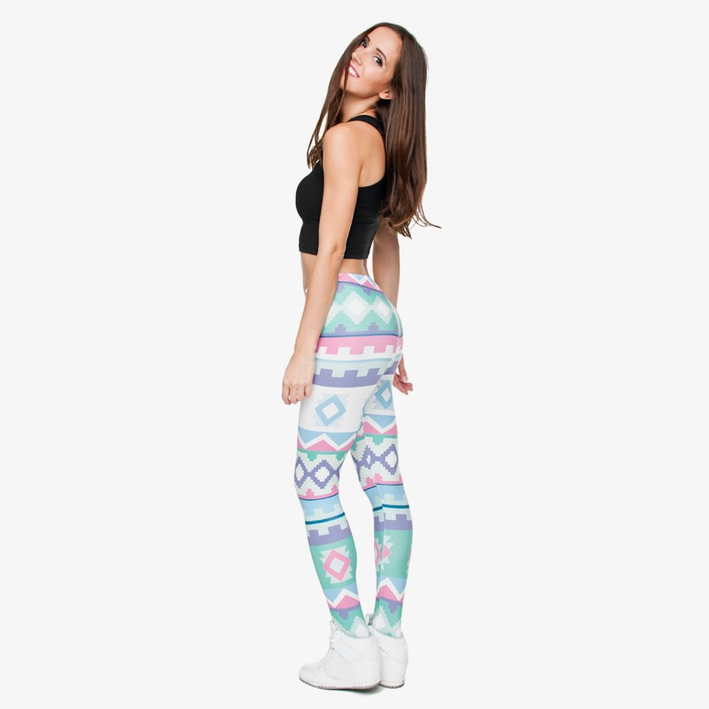 Zohra Brand New Fashion Aztec Printing legins Punk Women's Legging Stretchy Trousers Casual Slim fit Pants Leggings 15