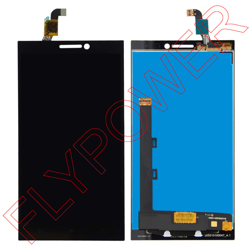 For Lenovo VIBE Z2 lcd screen display with touch screen digitizer assembly by free shipping; 100% warranty аксессуар чехол lenovo k10 vibe c2 k10a40 zibelino classico black zcl len k10a40 blk