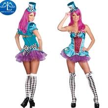 Manluyunxiao Харли Квинн Косплэй Костюм Маскарад Косплэй Хэллоуина клоун джокер костюм костюмы на Хэллоуин для Для женщин