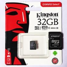 Kingston بطاقة microSD فئة 10 UHS I سرعات 16 جيجابايت 32 جيجابايت 64 جيجابايت 128 جيجابايت 256 جيجابايت هاتف محمول بطاقة الذاكرة الأصلي محول مجاني TF بطاقة