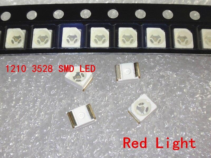 1000 шт. 3528 красный супер яркий светильник диод 1210 SMD СВЕТОДИОДНЫЙ