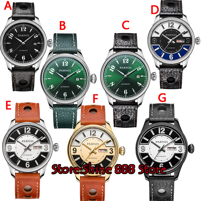 US $126.0 40% OFF|42mm Parnis green dial Sapphire Glass 21 jewels miyota Automatic mens Watch|Mechanical Watches| AliExpress